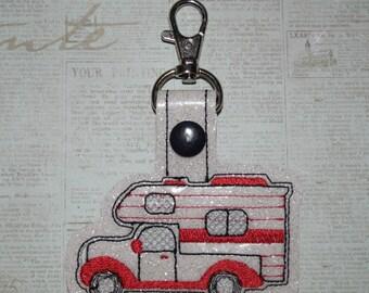 Truck Camper Keychain