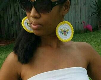 VI Crochet Earrings (large)