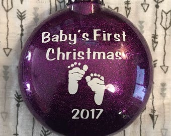 Babys First Christmas Ornament | Babys First Christmas Ornament Personalized | Christmas Ornament