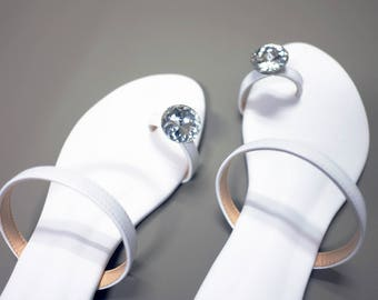 Sandals handmade with heart.