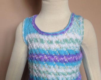 Hand knitted vest top
