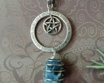 Pagan jewelry, wiccan pentacle society, necklace jewelry, wicca, wiccan necklace, witch, pagan necklace, pentacles, Pentagram