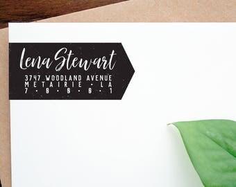 Custom Return Address Stamp, Address Stamp, Wood Mounted Stamp, Custom Stamp, Personalized Stamp