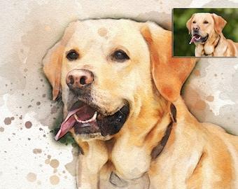 Custom Pet Portrait from Photo, Dog Painting, Custom Watercolor, Pet Portrait, Watercolour Painting, Custom Art