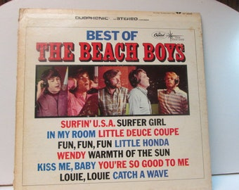 Best of The Beach boys vintage record album
