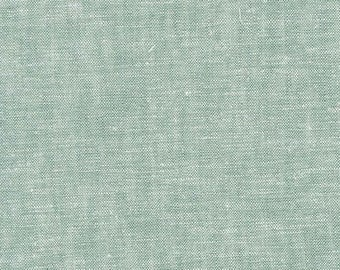 Brussels Washer Yarn Dye in Sage - Robert Kaufman rayon linen fabric