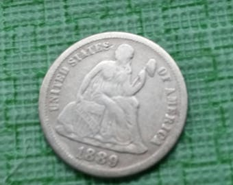 1889 seated liberty dime