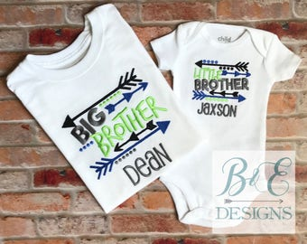 Big Brother Little Brother matching shirts, Sibling shirt set, Pregnancy Announcement, Big brother to be shirt