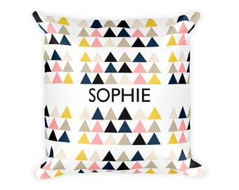 Personalized Pillow Cover, Travel Pillowcase, Geometric Pillow Case, Decorative Pillow, Travel Pillow Cover, Geometric Print, Modern Pillow