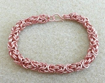 Pure Copper Chainmaille Bracelet Byzantine