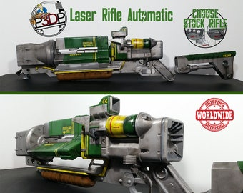 Laser Rifle Automatic Fallout Replica with micro fusion cell removal ***high quality***
