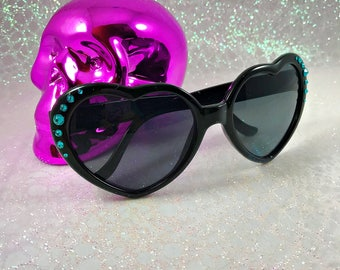 Heart Sunglasses | Heart Sunnies | Festival Sunglasses | Swarovski Sunglasses