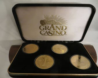 Grand Casino Collector Coins Gaming Set Gulf Coast Series 1995-96 w/ free ship