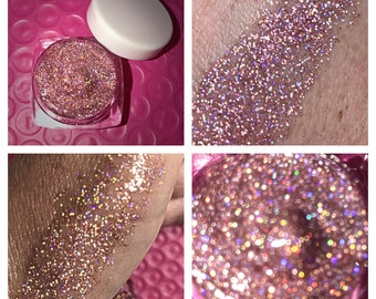 PINKY HOLO - Glitter Glaze - HOLOGRAPHIC Pink