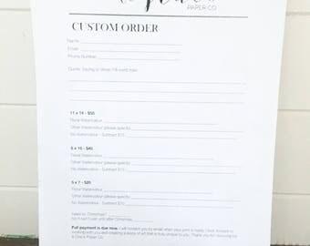 Custom Calligraphy Print