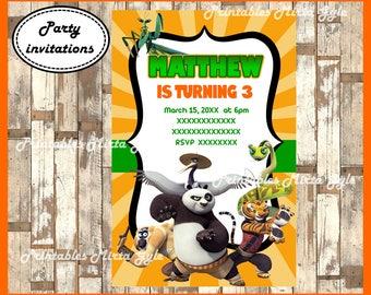 Kung Fu Panda Invitation, printable Kung Fu Panda Birthday Invitation, Kung Fu Panda invitation