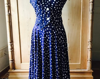 1940s polkadot set, skirt and gilet