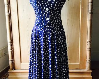 1940s polkadot set, skirt and gilet