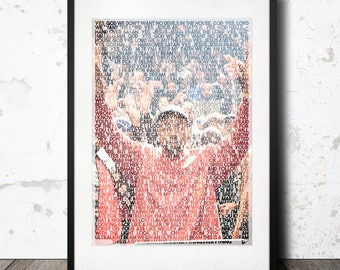 Kanye West The Life of Pablo - Ultra Light Beam Lyric artwork poster print TLOP Yeezy Boost Chance the Rapper