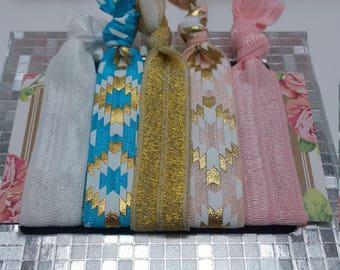 hair ties, hairtie, elastic hair tie, elastic ribbon, elastic bracelet, boho chic, boho chic bracelet, boho chic hair tie