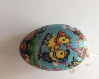 Vintage German Paper Mache Small Size Easter Egg