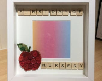 First Day of Nursery Box Picture Frame