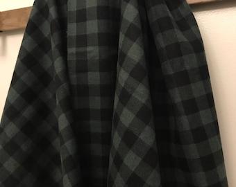 Extra Soft Buffalo Plaid Flannel Swaddle Blanket Baby Toddler LARGE