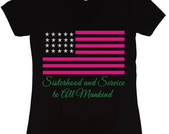 AKA Silver Star TShirt | Sisterhood and Service (Silver Stars) | Alpha Kappa Alpha