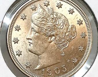 1905 Liberty Head V Nickel - Gem BU / MS / UNC