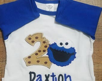 Cookie Monster Shirt/ Cookie Monster Birthday/ Cookie Monster Theme/ Sesame Street Birthday/ Cookie Shirt