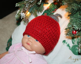 Christmas ornament hat, photo prop, baby Christmas hat