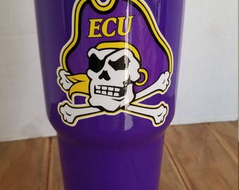 30oz Yeti Custom ECU Pirate's  tumbler