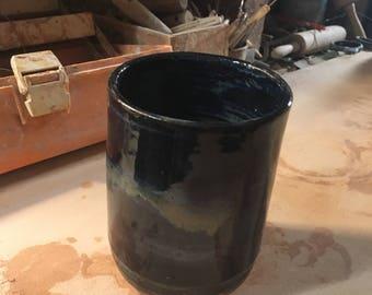 Hand thrown cylinder