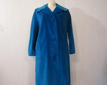 Vintage coat, womens coat, Marguerite Rubel, 1950s coat, velvet coat, vintage clothing, medium