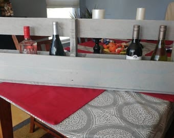 Pallet wine rack wall holder