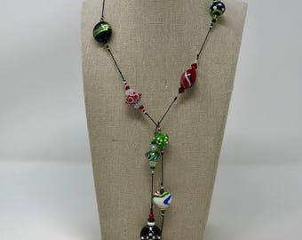 Christmas Lariat Necklace
