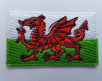 Wales Flag St David Welsh Dragon flag Brand new iron on Sew on Patch Embroidered transfer Baner Cymru or Y Ddraig Goch
