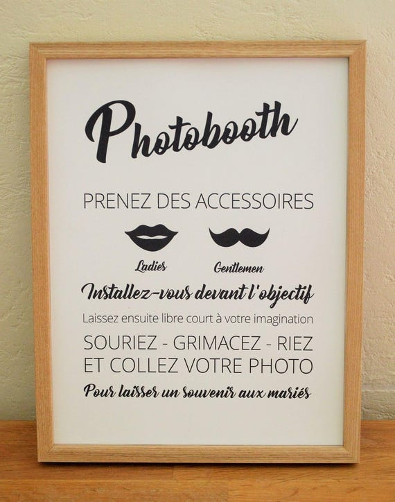 panneau photobooth pour mariage. Black Bedroom Furniture Sets. Home Design Ideas