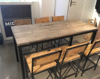 Set table plus 6 chairs