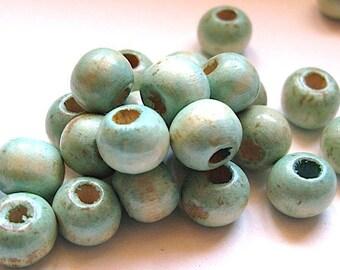 20 beads 10 mm wood patina.