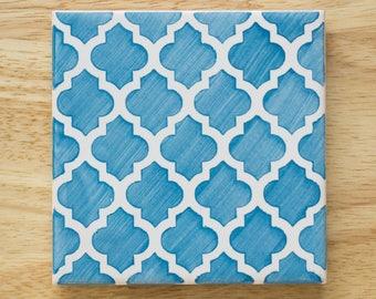 "Ceramic Azulejo Tile Coaster ""Marrakech"""