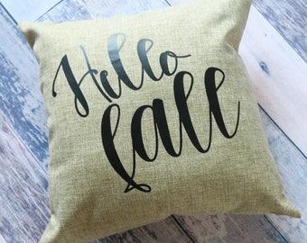 Hello Fall, Farmhouse Pillows, Fall Pillows, Fall home Decor, Fall Pillow Covers, Fall Decorative Pillows, Fall Farmhouse Pillow, Fall Decor