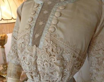 1912 Afternoon Dress, antique dress, antique gown, Edwardian Dress, Titanic Era Dress, antikes Kleid