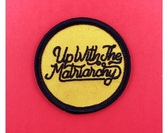 """Up with the Matriarchy 2"""" adhesive back Patch LGBT feminist patch Queer feminism resist patch Lesbian patch Gay Girls Pride Patch gay patch"""