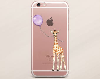 Giraffe iPhone 6 Case iPhone 7 Case iPhone 7 Balloon iPhone 6 iPod Case Samsung S8 Animal Case Samsung Galaxy S7 iPhone SE S7 Clear Case