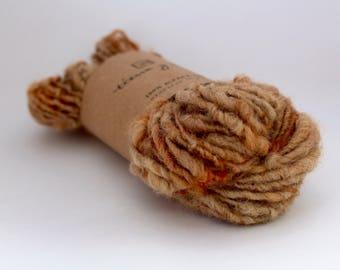 Hand spun yarn, alpaca yarn, naturally dyed yarn, 56g