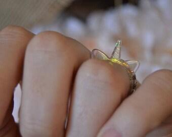 Unicorn Ring | Unicorn | Acrylic | Ring | Handmade Jewelry | Jewelry | Rainbow | Iridescent