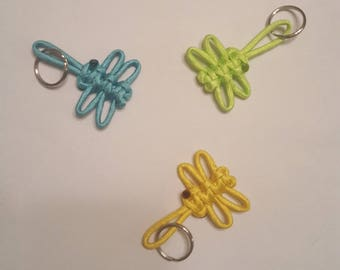 Dragonfly paracord keychains.