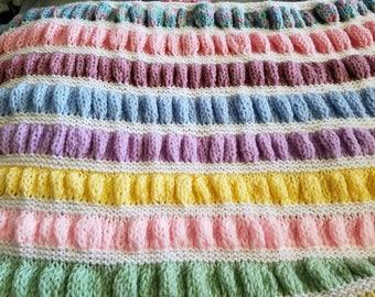 Handmade multi-colored baby blanket