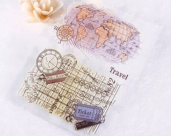 Clear stamps, stamps transparent 3-piece set
